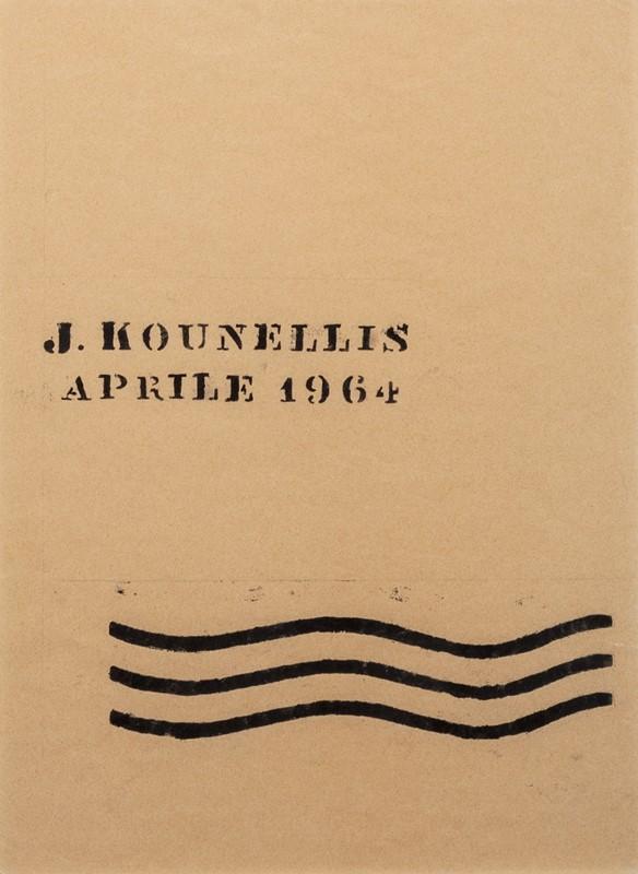 126 JANNIS KOUNELLIS (1936 – 2017) J. Kounellis Aprile 1964 , 1964