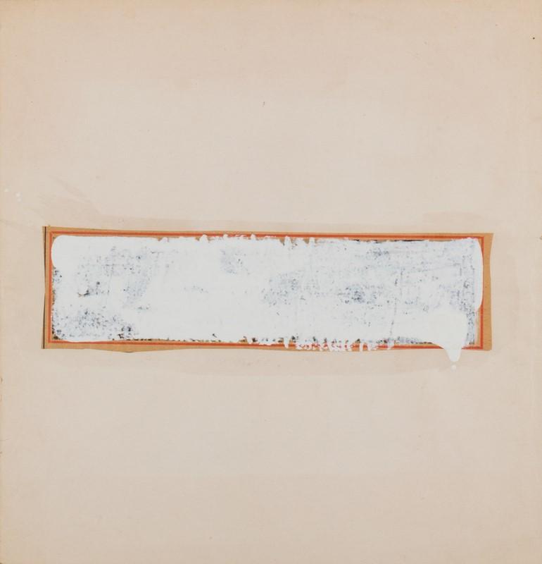 92 MARIO SCHIFANO (1934 – 1998) Senza Titolo – Monocromo Bianco , 1961