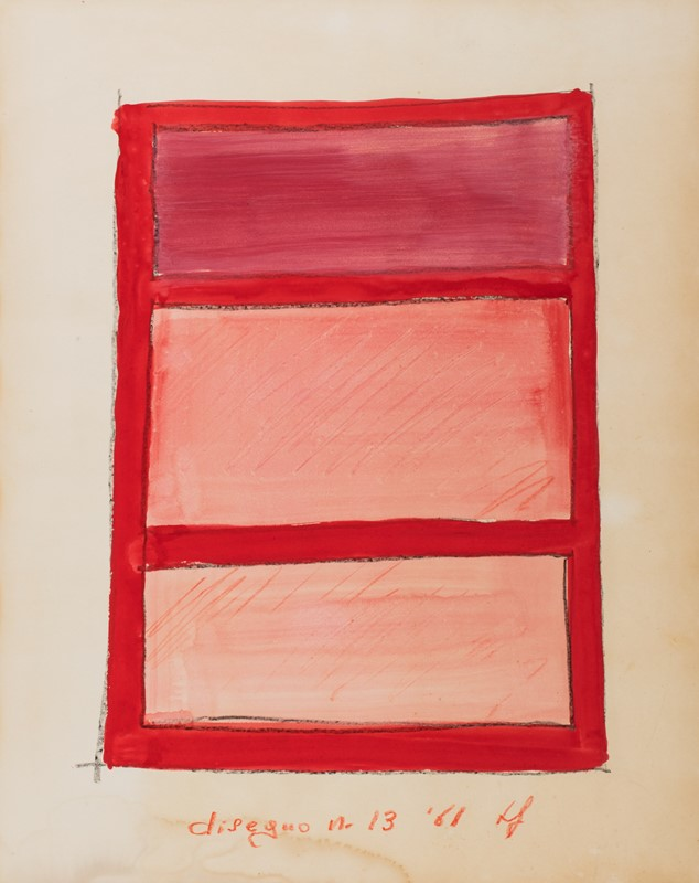 97 TANO FESTA (1938 – 1988) Disegno N°13 , 1961