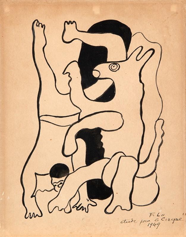 19 FERNAND LÉGER – Etude Pour Le Cirque, 1949