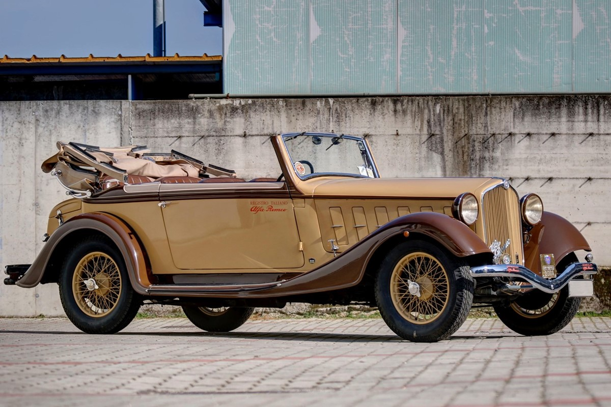 Lotto 238: 1933 Alfa Romeo 6C 2300 Gran Turismo Cabriolet Royal (Carrozzeria Castagna Milano)