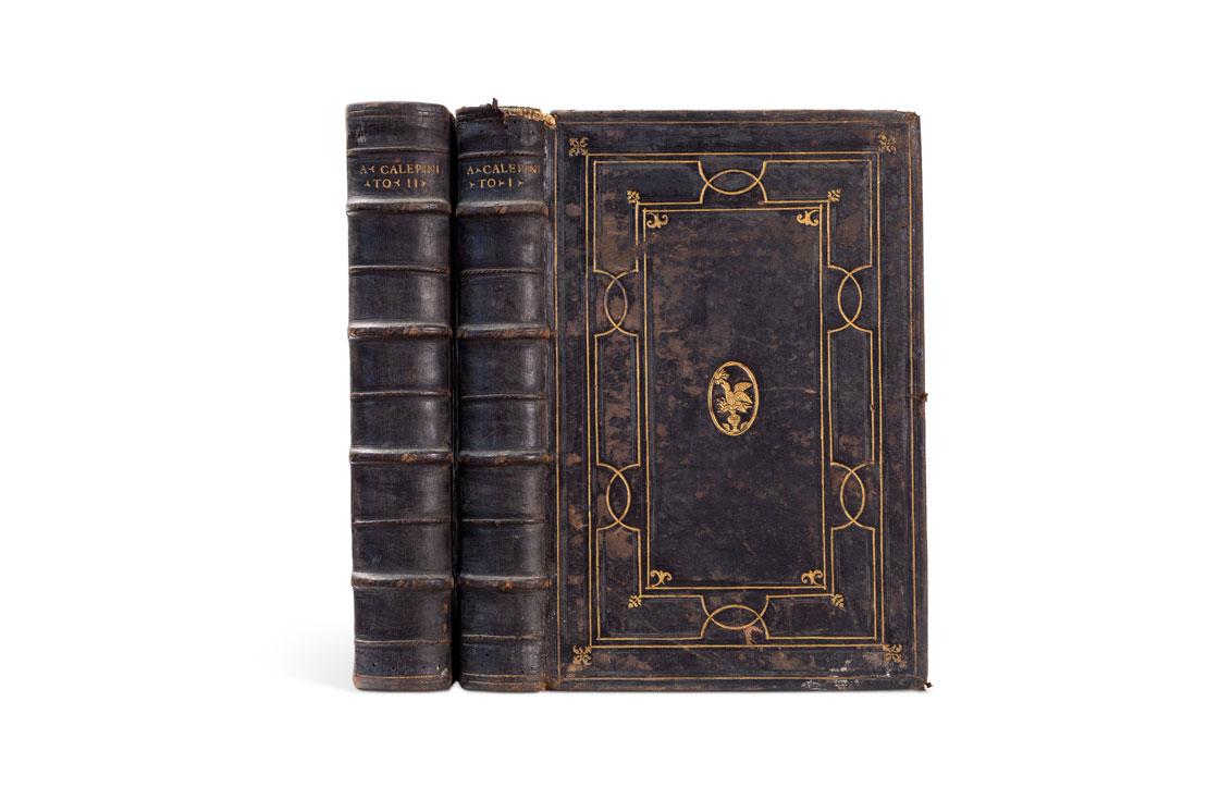 Lotto 27:  ALDINA – CALEPINO, AMBROGIO Dictionarium. In Quo Restituendo Atque Exornando Cum Multa Præstitimus, 1552