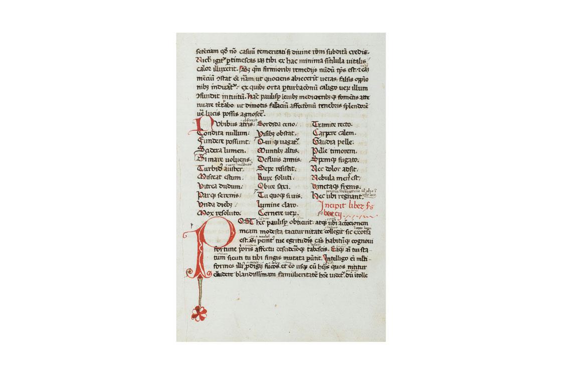 Lotto 19: BOEZIO, SEVERINO De Consolatione Philosophiae, 1439