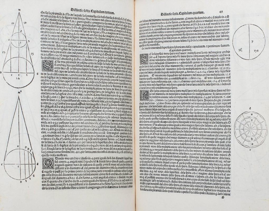 Lotto 507: Luca Pacioli – Summa De Arithmetica Geometria Proportioni & Proportionalita, 1494 (dettaglio Margini)