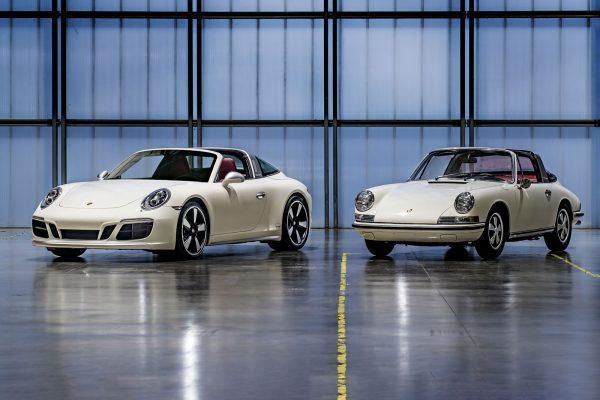 Porsche 911 S Targa SWB Soft Window del 1968 Chassis no. 11850424 e una Porsche 911 (991.2) Targa 4S del 2018 – gemella al telaio no. 11850424