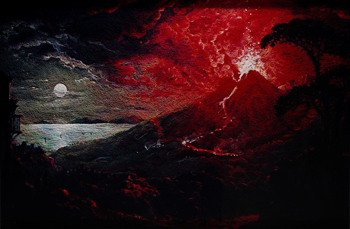 VIK MUNIZ, <em>Pictures Of Pigment: The Eruption Of Mount Vesuvius, After Sebastian Pether</em>, 2007 – Venduto € 13.899