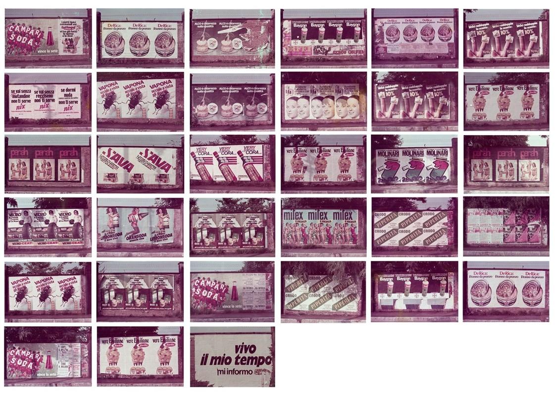 33 stampe cromogeniche vintage / cm 8,8 x 12,5 (cm 5 x 7,2 immagine) / Opere in cornice