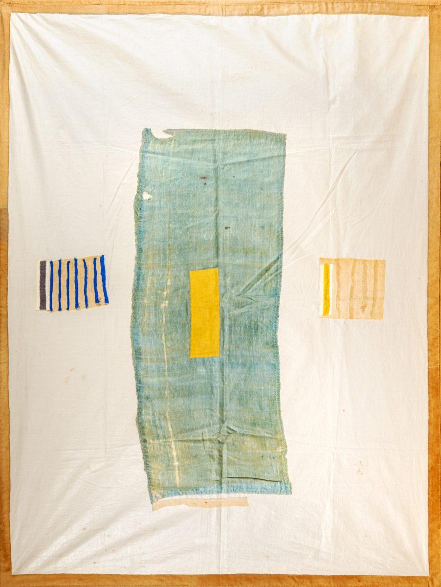Isabella Ducrot, Finto frammento, 1985 - stoffe e ricamo cm 127 x 96   In asta a Roma il prossimo 27 aprile