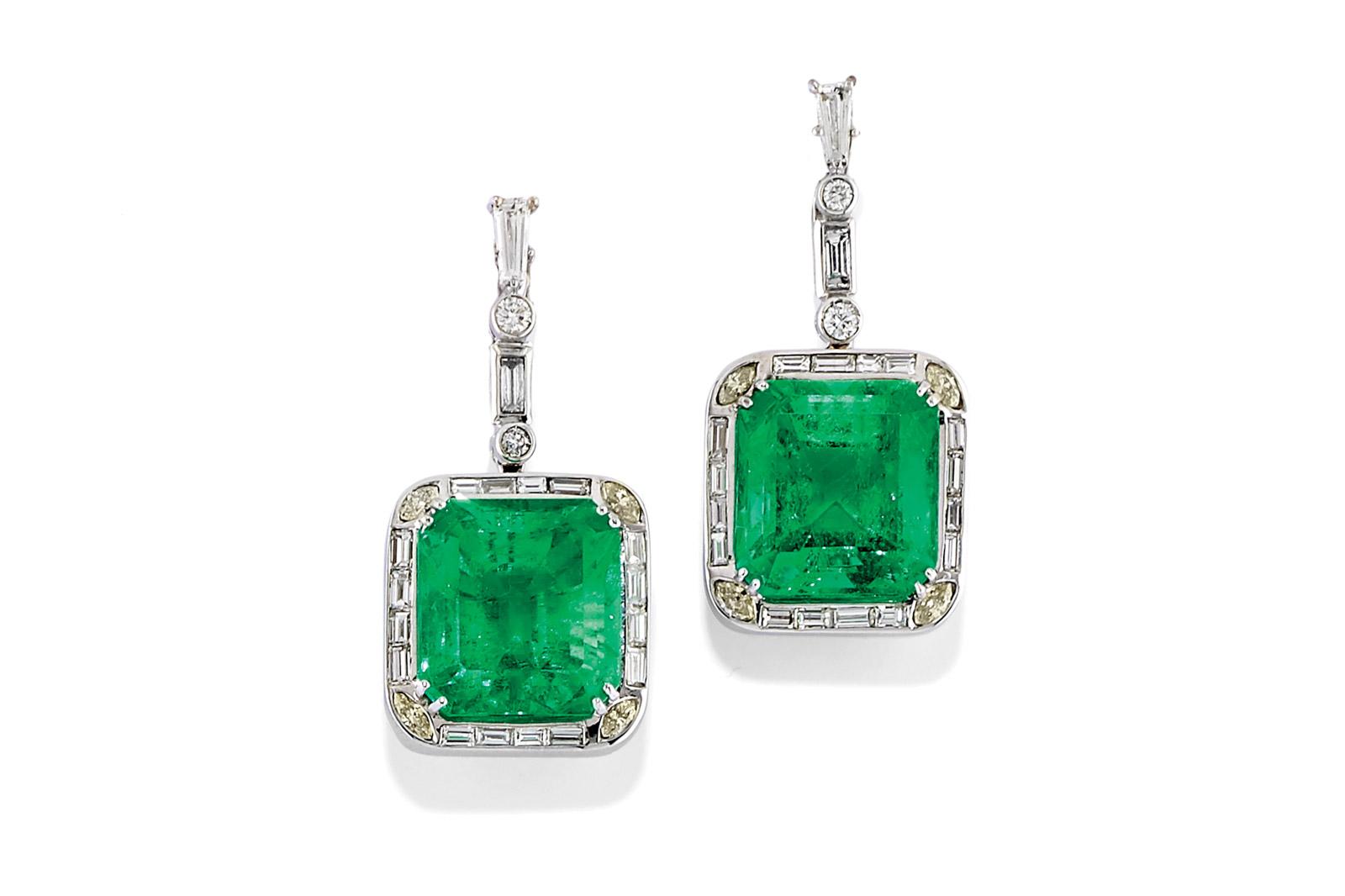 Orecchini Con Smeraldi E Diamanti – Venduti € 49.859,00