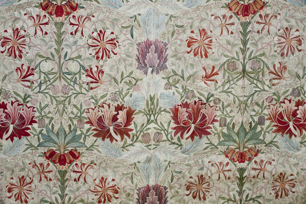 William Morris, Honeysuckle, ricamo, 1876, London, Borough of Waltham Forest