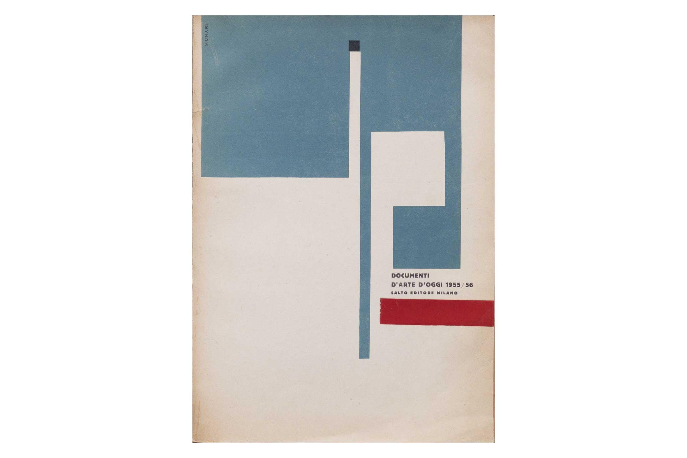 Lotto 2: Libro d'artista AA.VV. - Documenti d'arte d'oggi 1955/56. Raccolti a cura del MAC/Espace Milano, Il Salto Editore, 1955, 23x32 cm, brossura, pp. 139-[1] - Stima € 1.500 - 1.700