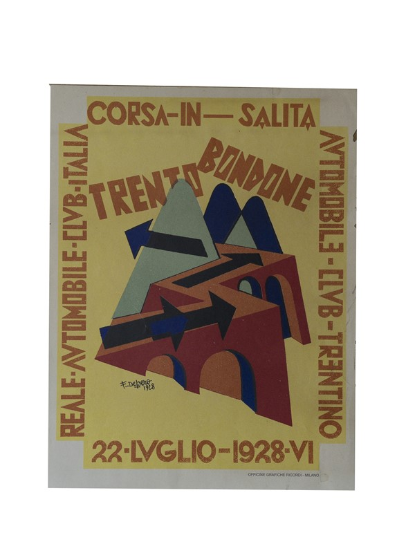 "Lotto 58 – DEPERO ""Corsa In Salita"" – Stima € 500 – 700"