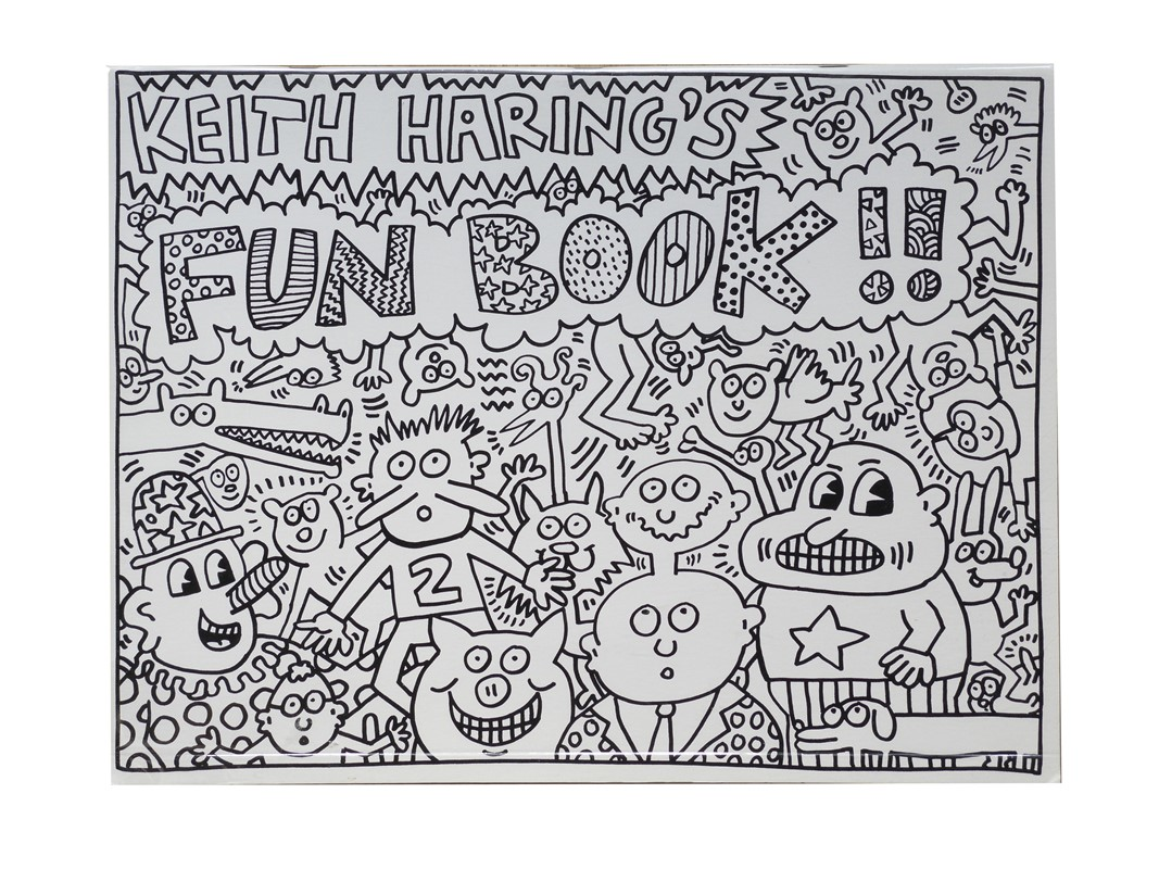 "Lotto 73 – KEITH HARING ""Keith Haring's Fun Book!!"" – Stima € 500 – 700"