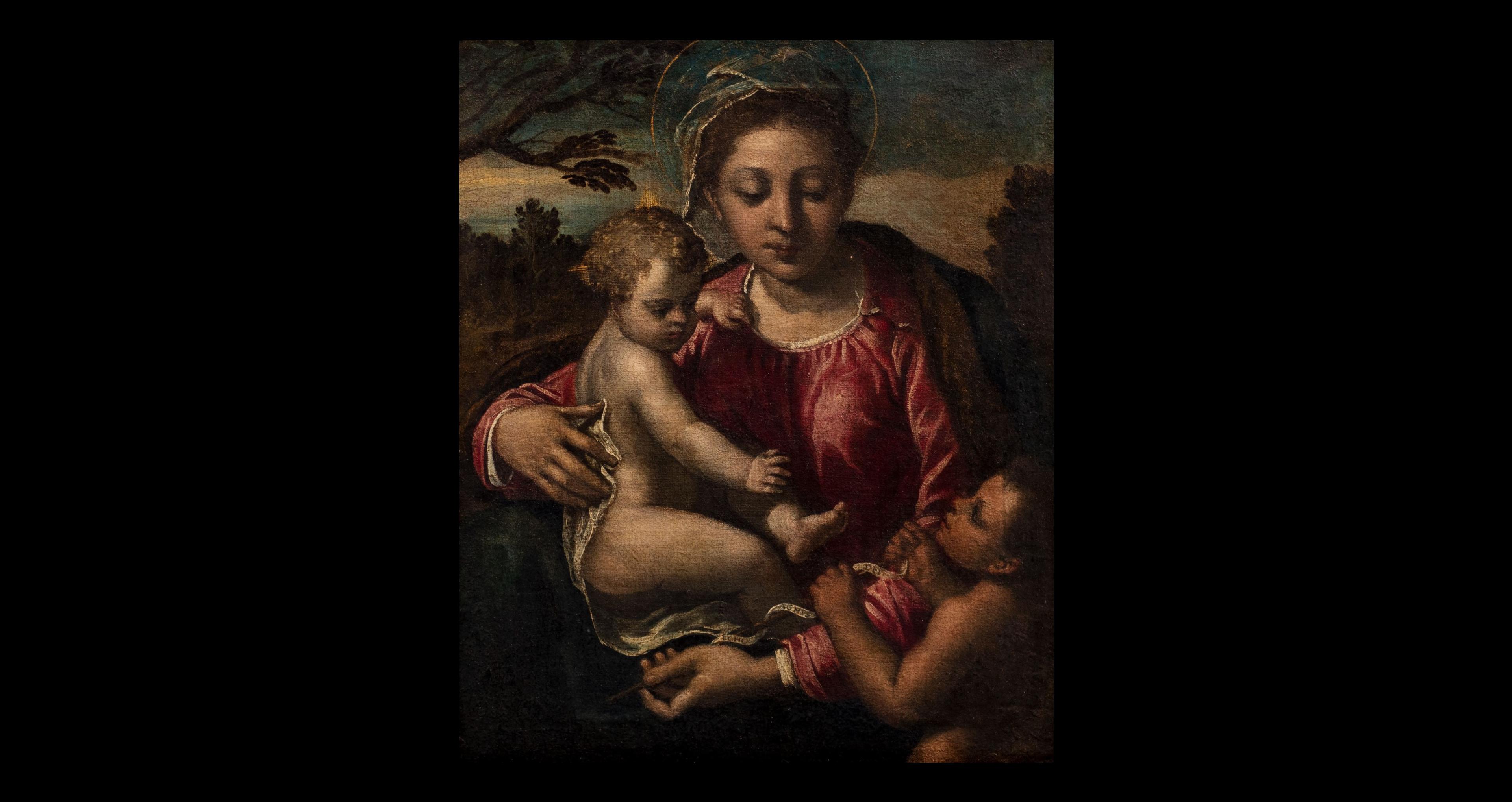 Lotto 42 – IPPOLITO SCARSELLA, DETTO LO SCARSELLINO (Ferrara 1550 – 1620), Madonna Con Bambino E San Giovannino, Olio Su Tela, Senza Cornice, Cm 49,5 X 39 – STIMA € 8.000 – 12.000