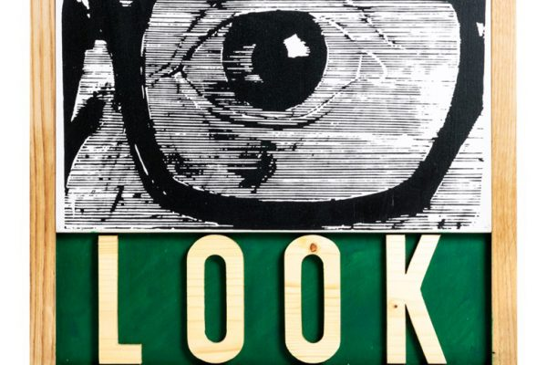 JOE TILSON - Look (dettaglio), 2002 (Stima € 500 - 700)